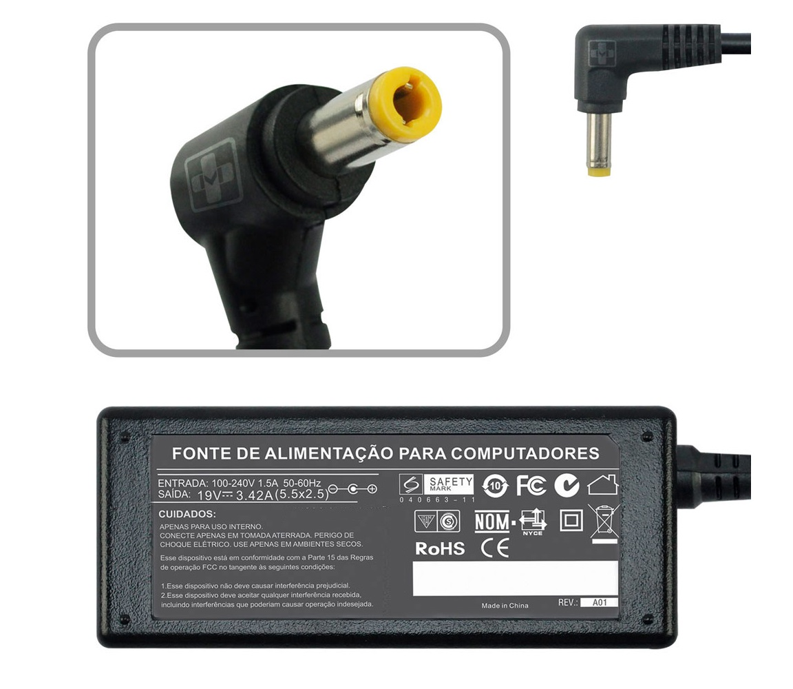 Fonte Carregador Para Cce Ultra Thin S345  19v 2.1a 40w 670 - EASY HELP NOTE