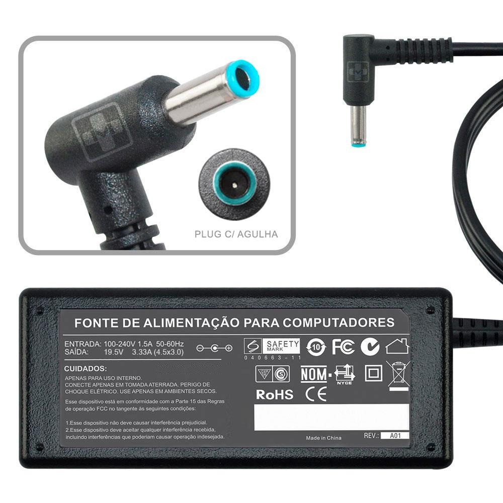 Fonte Carregador para HP Envy 14K00TX 19,5v 65w 761 - EASY HELP NOTE