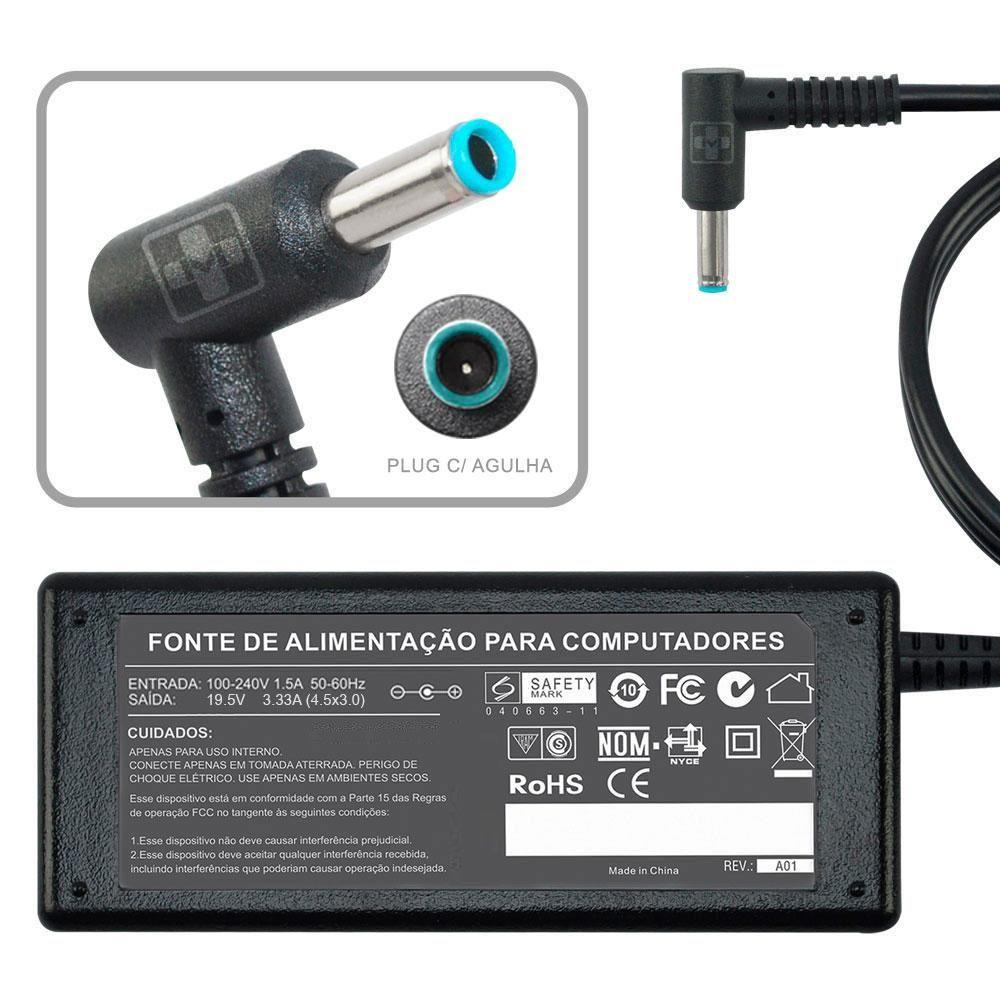Fonte Carregador Para Hp Stream 11-d007na Note 19,5v 4.5×3.0 761 - EASY HELP NOTE