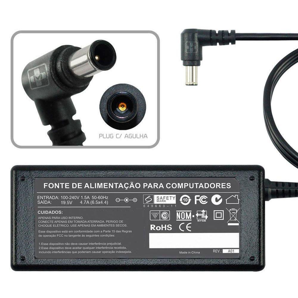 Fonte Carregador Para Notebook Sony Vaio  Pcg-fr295mp 19,5v MM 493 - EASY HELP NOTE