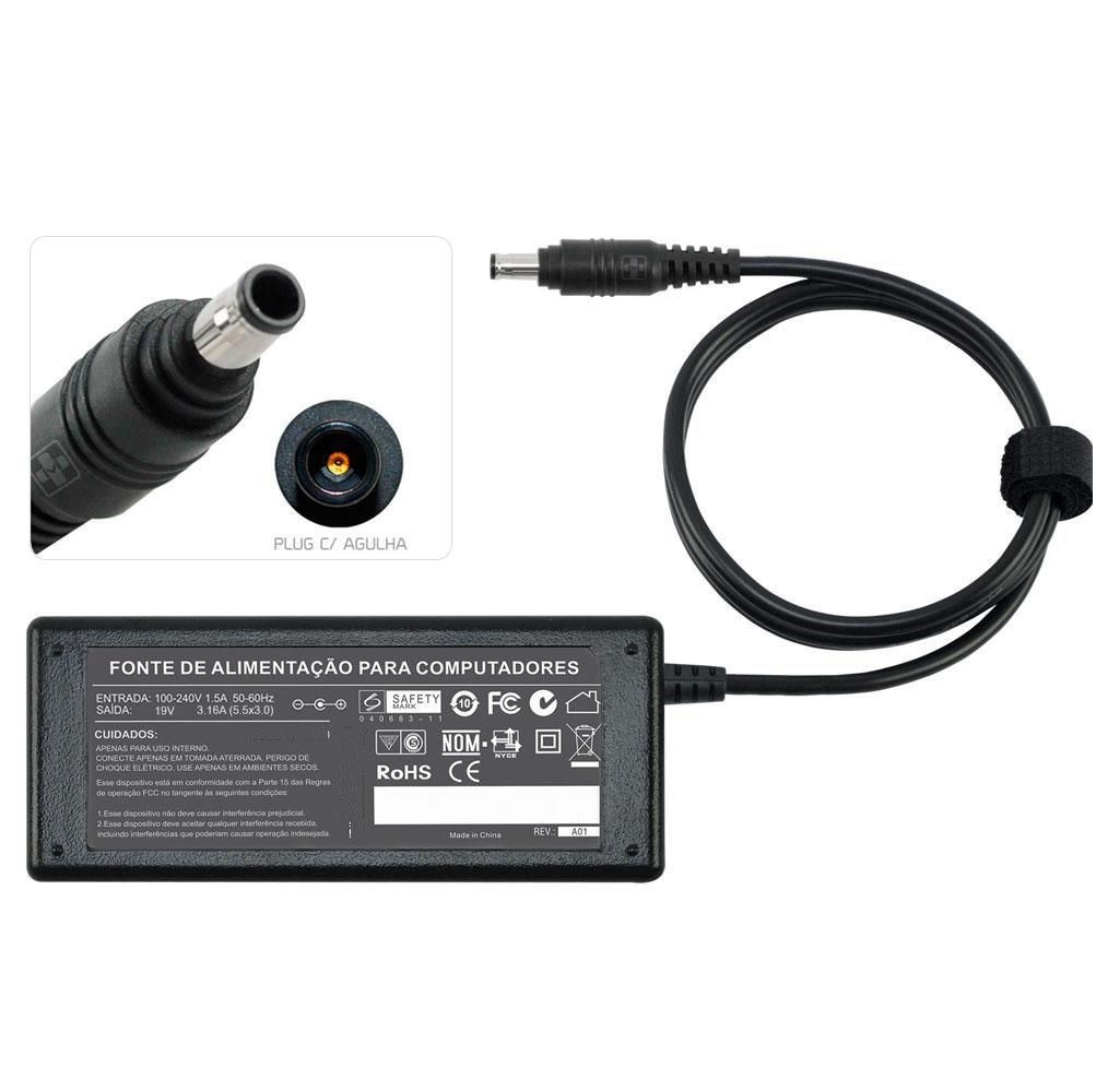 Fonte Carregador Para Samsung R40 Séries 19v 3.16a 65w MM 500 - EASY HELP NOTE