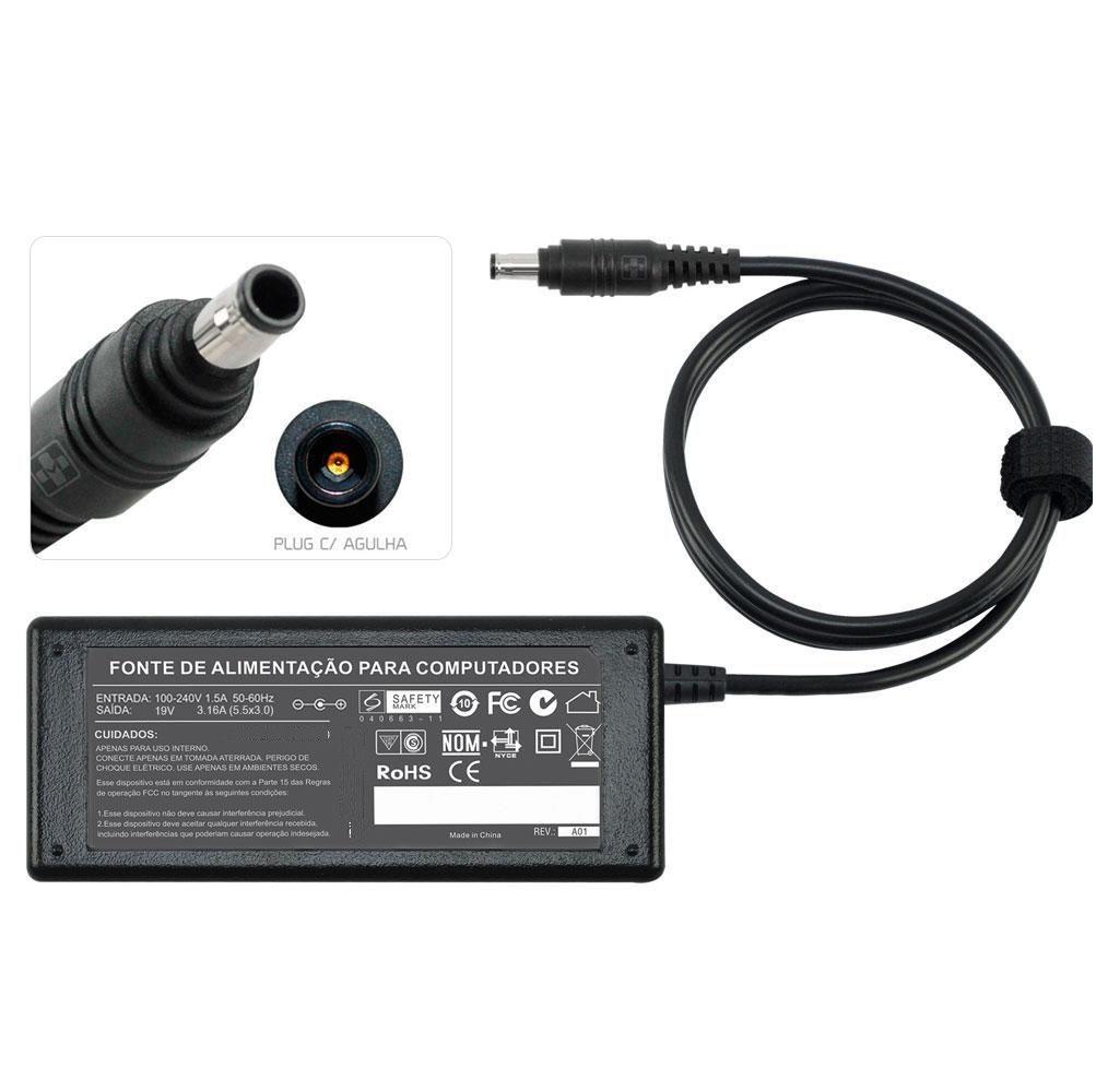 Fonte Carregador Para Samsung  R730  19v 3.16a 65w 500 - EASY HELP NOTE