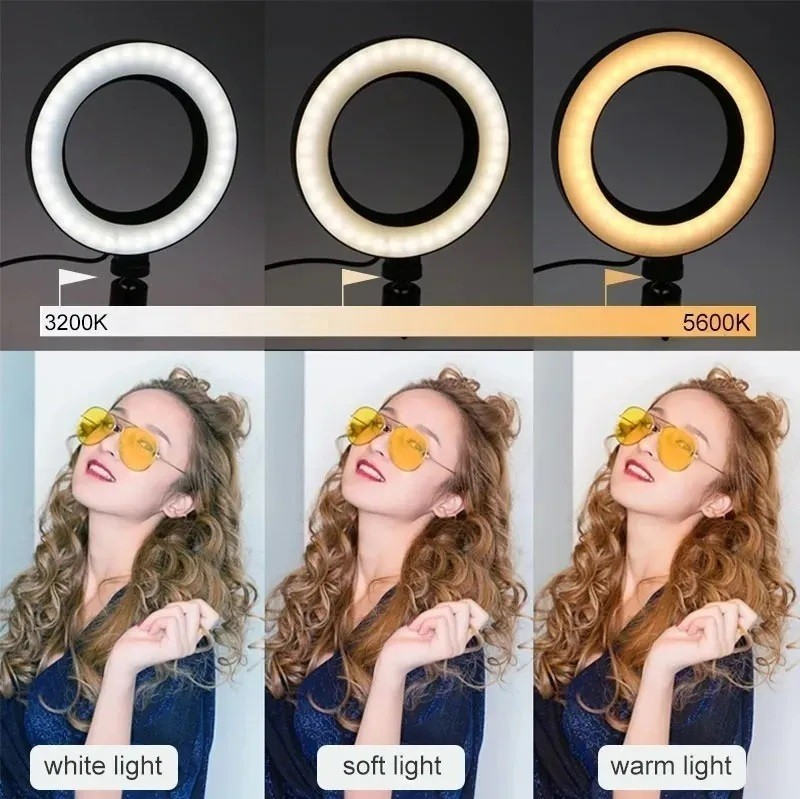 Ring Light Led Circular Completo Portátil 26cm + Tripé 1,8m - EASY HELP NOTE