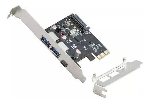 Placa Pci-e 1 Porta Type-c Usb-c 3.1 + 2 Portas Usb 3.0 5gbp - EASY HELP NOTE