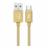 CABO USB X TIPO-C TRANÇADO ELG TC10BG GOLD 1M
