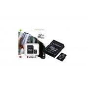 CARTÃO MEMÓRIA 32GB CANVAS KINGSTON SDCS2/32GB