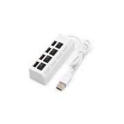 HUB USB 2.0 4 PORTAS HI-SPEED C/SWITCH E LED INDICADOR