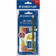 KIT NORIS CLUB 12 LAPIS COR + 1 LAPIS PRETO + 1 BORRACHA STAEDTLER