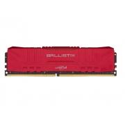 MEMORIA 8GB DDR4 CRUCIAL BALLISTIX 3000Mhz BL8G30C15U4R VERMELHO
