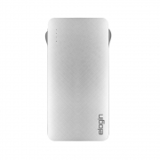 POWER BANK 10000mAh ELOGIN C/CABO PB09 2.1A BRANCO