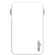 POWER BANK 5000mAh ELOGIN C/CABO PB10 2.1A BRANCO