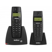 TELEFONE S/FIO + RAMAL INTELBRAS TS40C PRETO