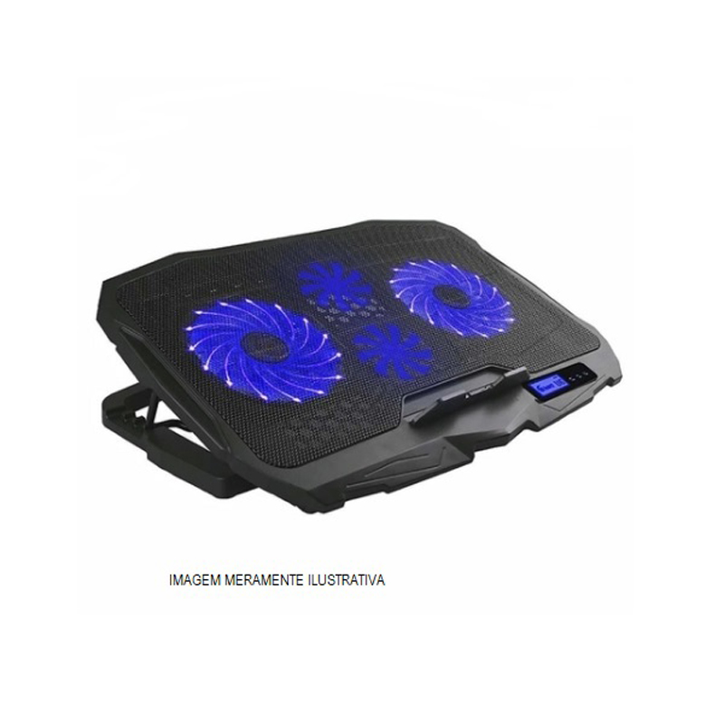 "BASE COOLER P/NOTE 17"" C/2 FAN + 2 x USB + LED AZUL HOOPSON BPN-005  - TELLNET"