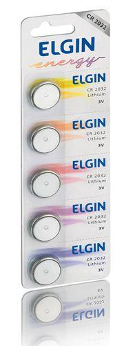 BATERIA LITIO 3V ELGIN CR2032 CARTELA C/5  - TELLNET