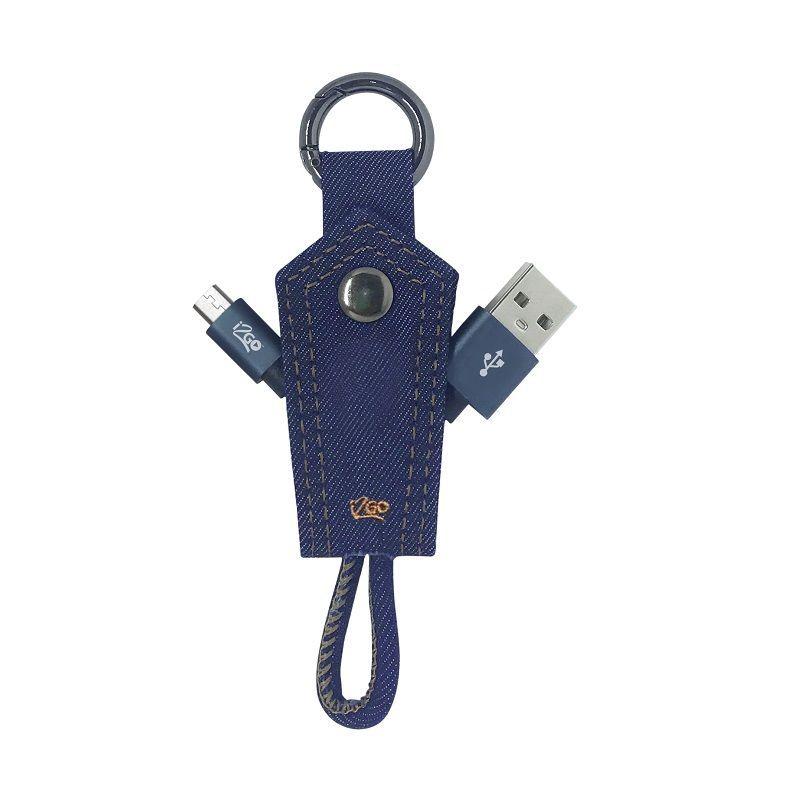 CABO MICRO USB + CHAVEIRO JEANS I2G0 I2GCBL950 10CM  - TELLNET