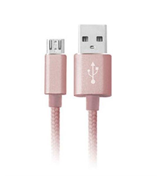 CABO MICRO USB EASY MOBILE CBMICRO15RO 1,5M ROSA  - TELLNET