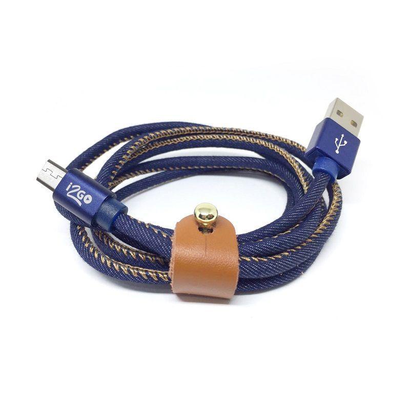 CABO MICRO USB JEANS I2GO I2GCBL940 1,5M  - TELLNET