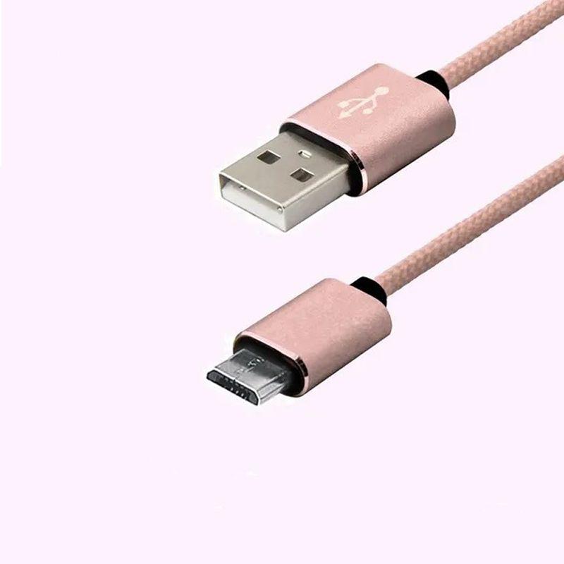 CABO MICRO USB PREMIUM EASY MOBILE CBMICRO12RO 1,2M ROSA  - TELLNET