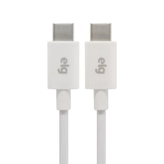 CABO USB-C x USB-C REVERSÍVEL ELG TC2TC 1M BRANCO  - TELLNET