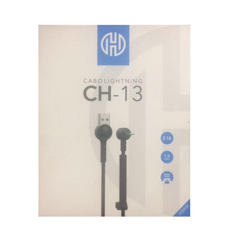 CABO USB X LIGHTNING 2.1A HOOPSON CH-13 1M PRETO  - TELLNET