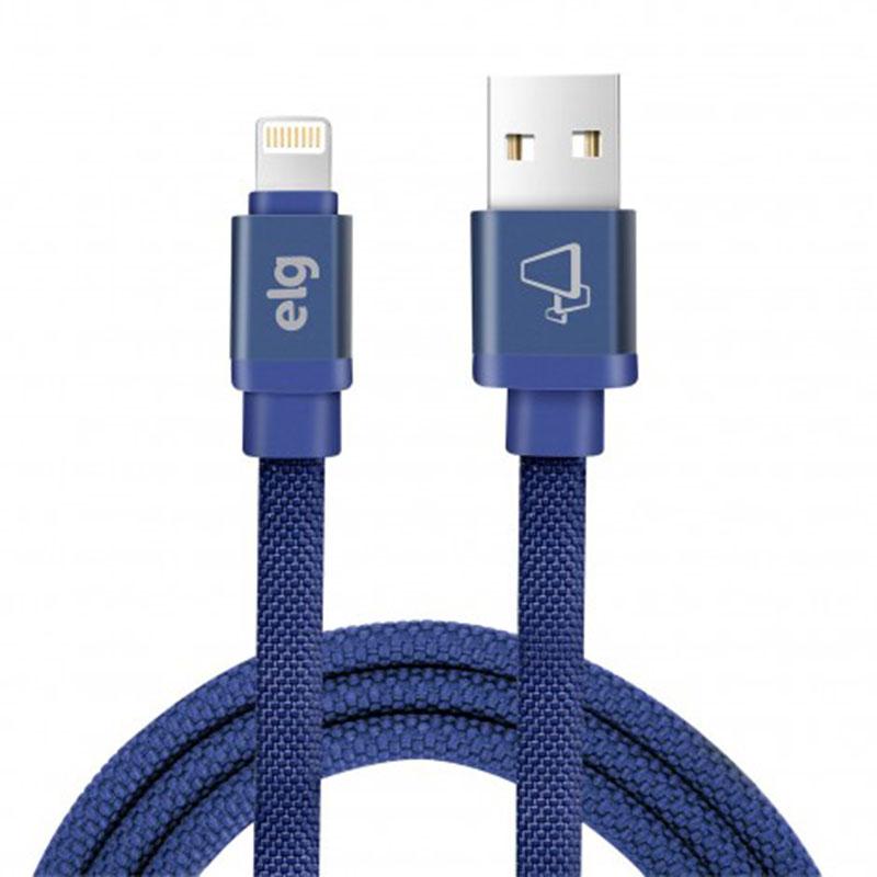 CABO USB X LIGHTNING CANVAS ELG CNV810BE AZUL 1M  - TELLNET
