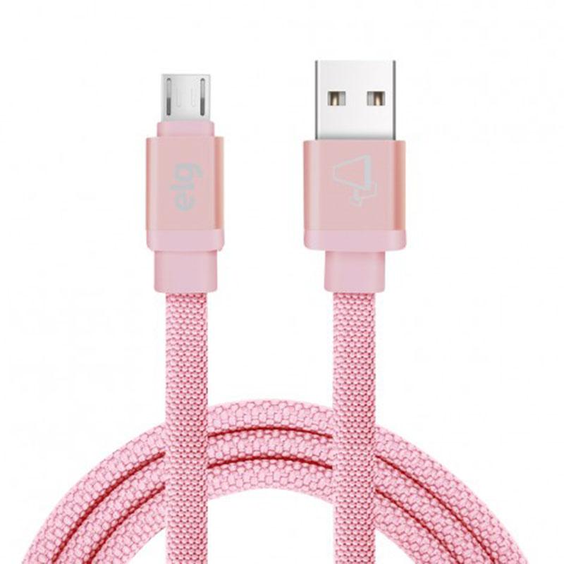 CABO USB x MICRO USB CANVAS ELG CNV510PK ROSA 1M  - TELLNET