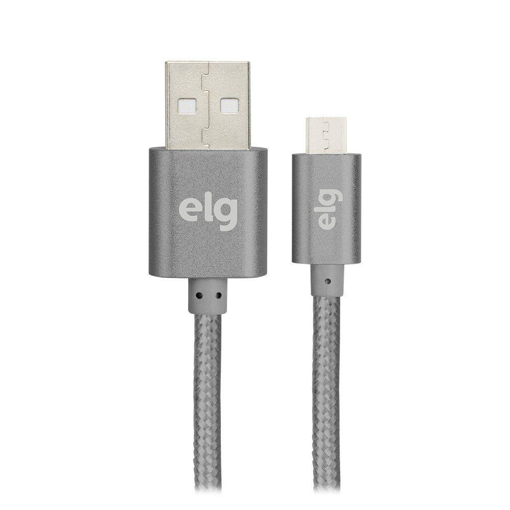 CABO USB X MICRO USB NYLON ELG M510BY SILVER 1M  - TELLNET