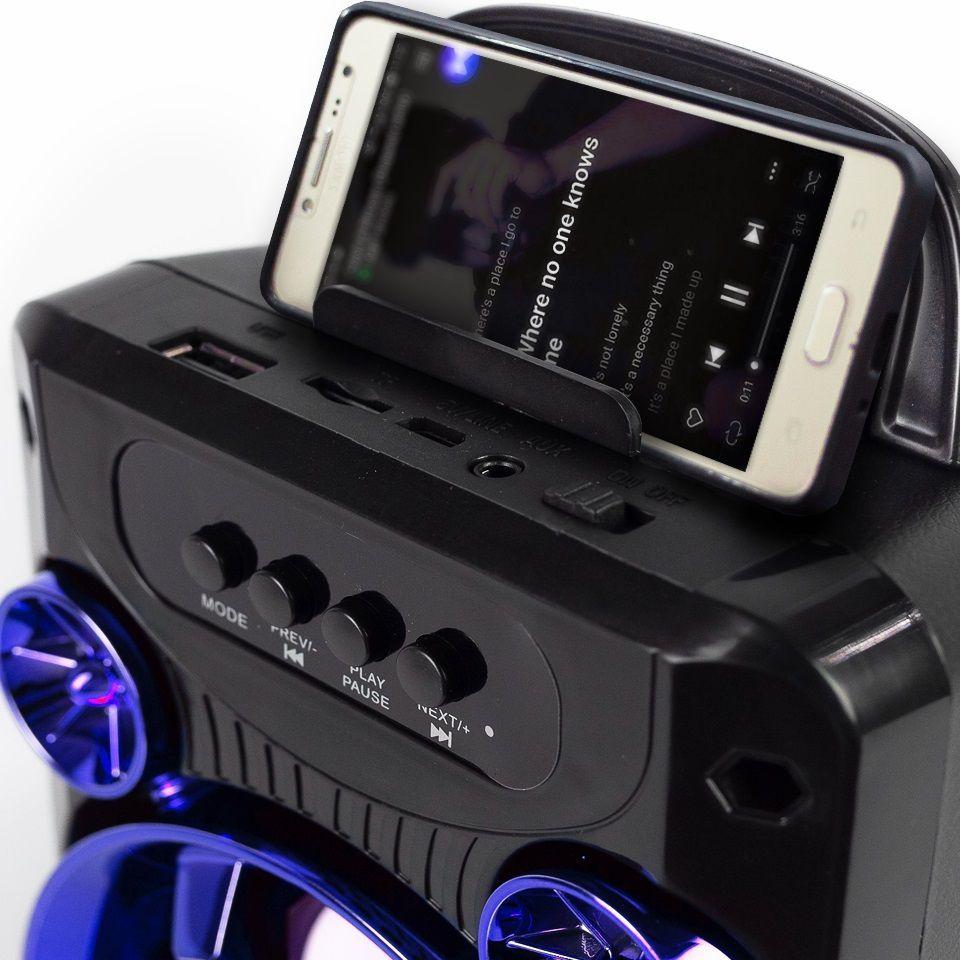 CAIXA SOM BLUETOOTH C/FM + USB + SD + AUXILIAR HOOPSON RBM-010A 50W  - TELLNET
