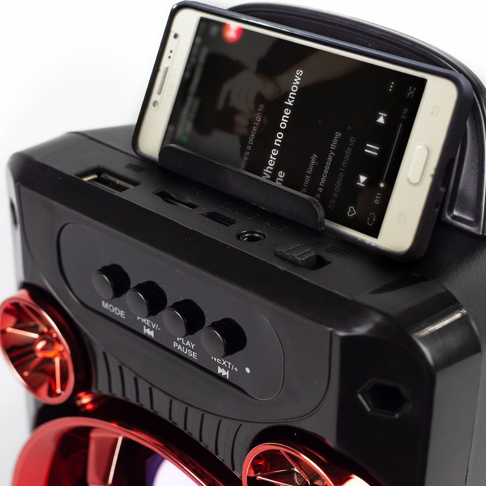 CAIXA SOM BLUETOOTH C/FM + USB + SD + AUXILIAR HOOPSON RBM-010V 50W  - TELLNET