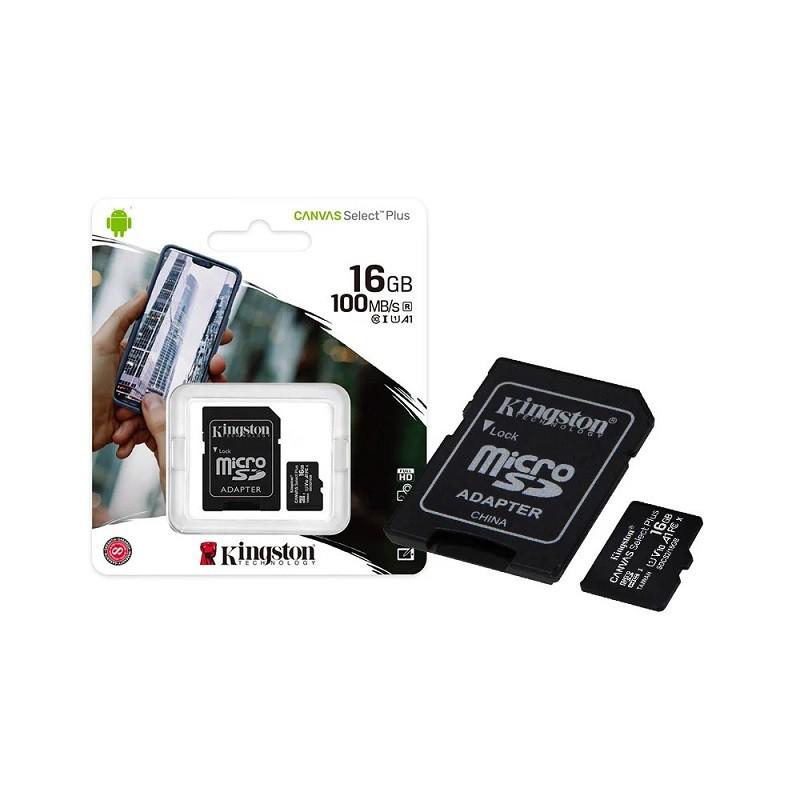 CARTÃO MEMÓRIA 16GB CANVAS KINGSTON SDCS2/16GB  - TELLNET