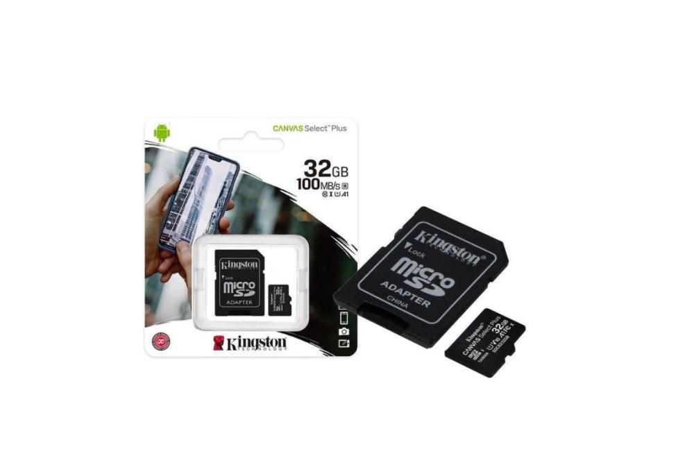 CARTÃO MEMÓRIA 32GB CANVAS KINGSTON SDCS2/32GB  - TELLNET