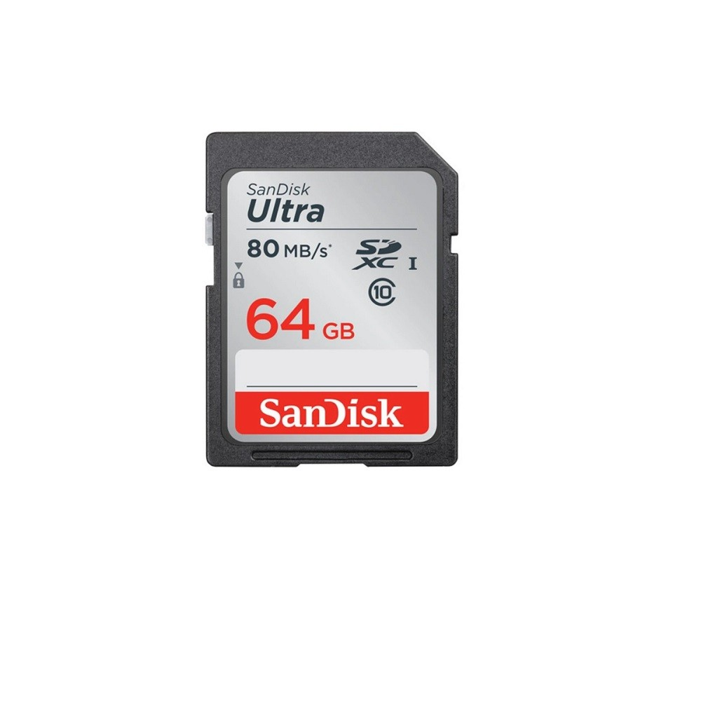 CARTÃO MEMÓRIA 64GB ULTRA SANDISK  SDSDUNC-064G-GN6IN  - TELLNET