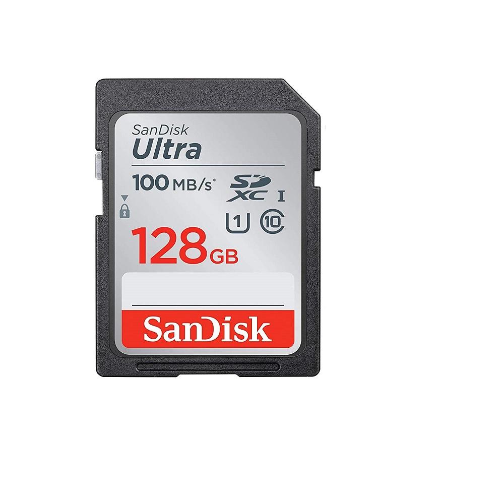 CARTÃO MEMÓRIA SD 128GB ULTRA SANDISK  SDSDUNR-128G-GN6IN  - TELLNET