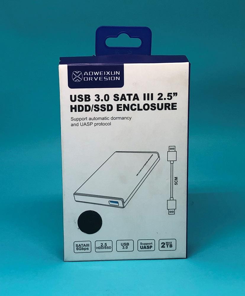"CASE HD 2,5"" USB 3.0 AOWEIXUN PRATA  - TELLNET"