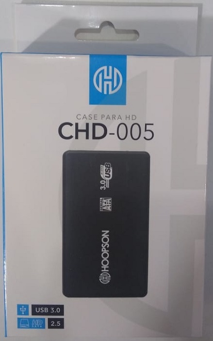 "CASE P/HD 2,5"" USB3.0 HOOPSON CHD-005 PRETA  - TELLNET"