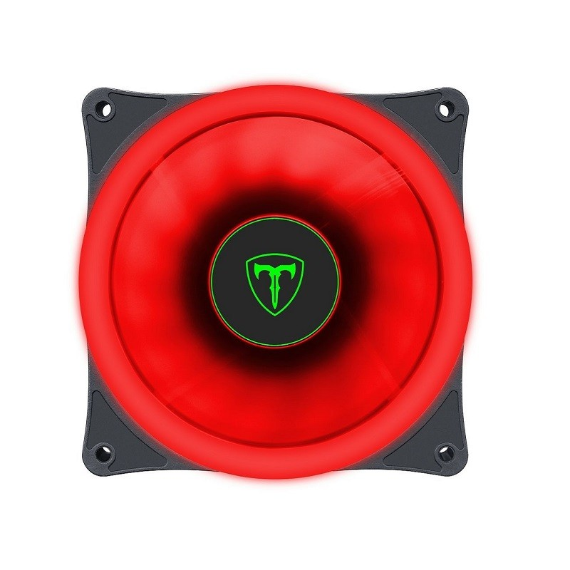 COOLER GABINETE 120 X 25MM T-DAGGER LED VERMELHO T-TGF200-R  - TELLNET