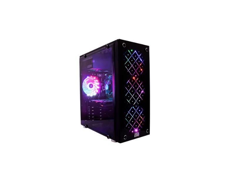 GABINETE GAMER VORTEX OEX GH-100 PRETO  - TELLNET