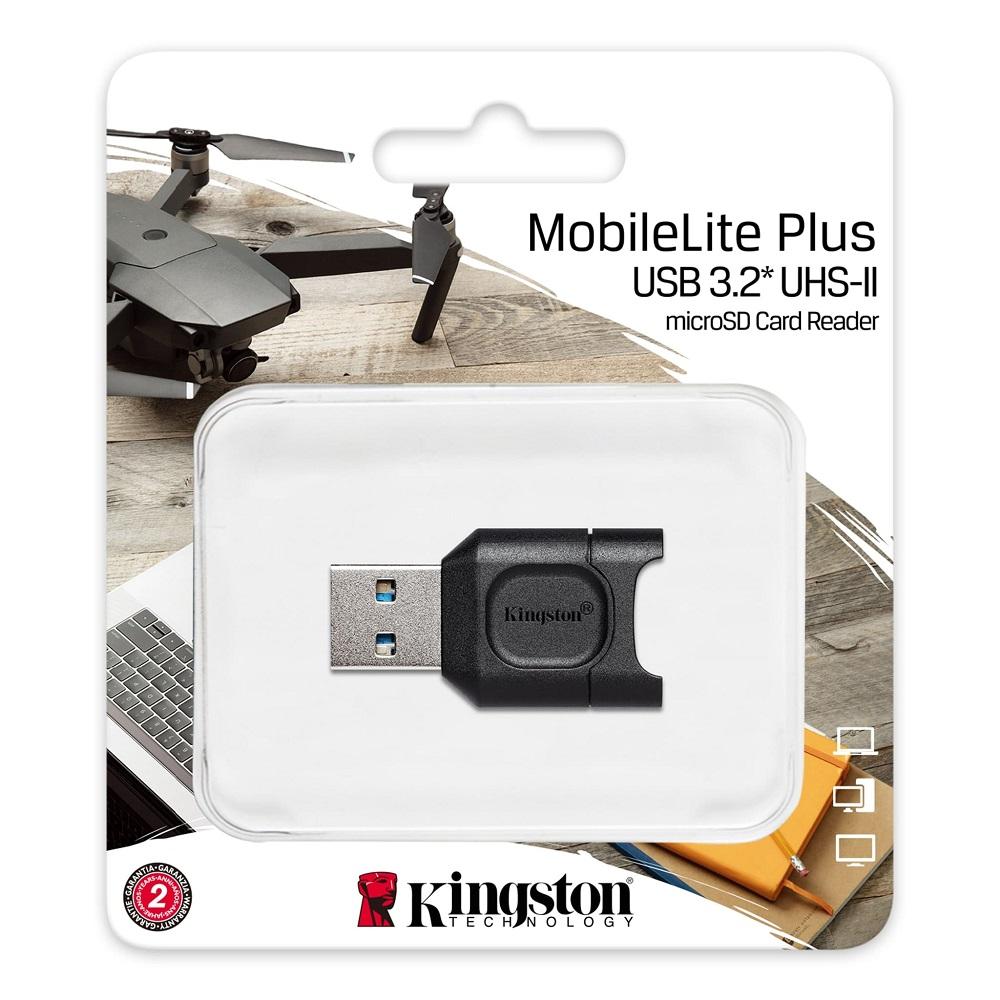 LEITOR CARTAO MICRO SD MOBILELITE PLUS KINGSTON USB 3.2 UHS-II  - TELLNET