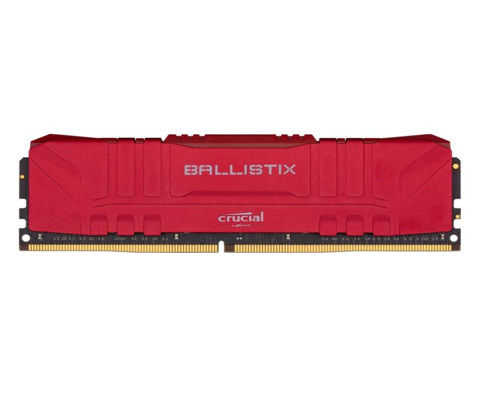 MEMORIA 8GB DDR4 CRUCIAL BALLISTIX 3000Mhz BL8G30C15U4R VERMELHO  - TELLNET