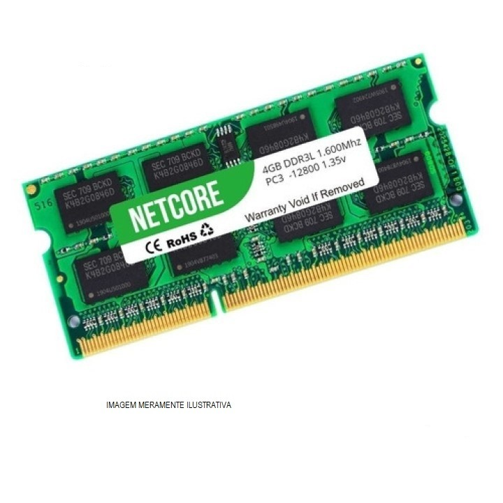 MEMORIA NOTE 8GB DDR3 1600MHZ NETCORE NET38192SO16LV  - TELLNET