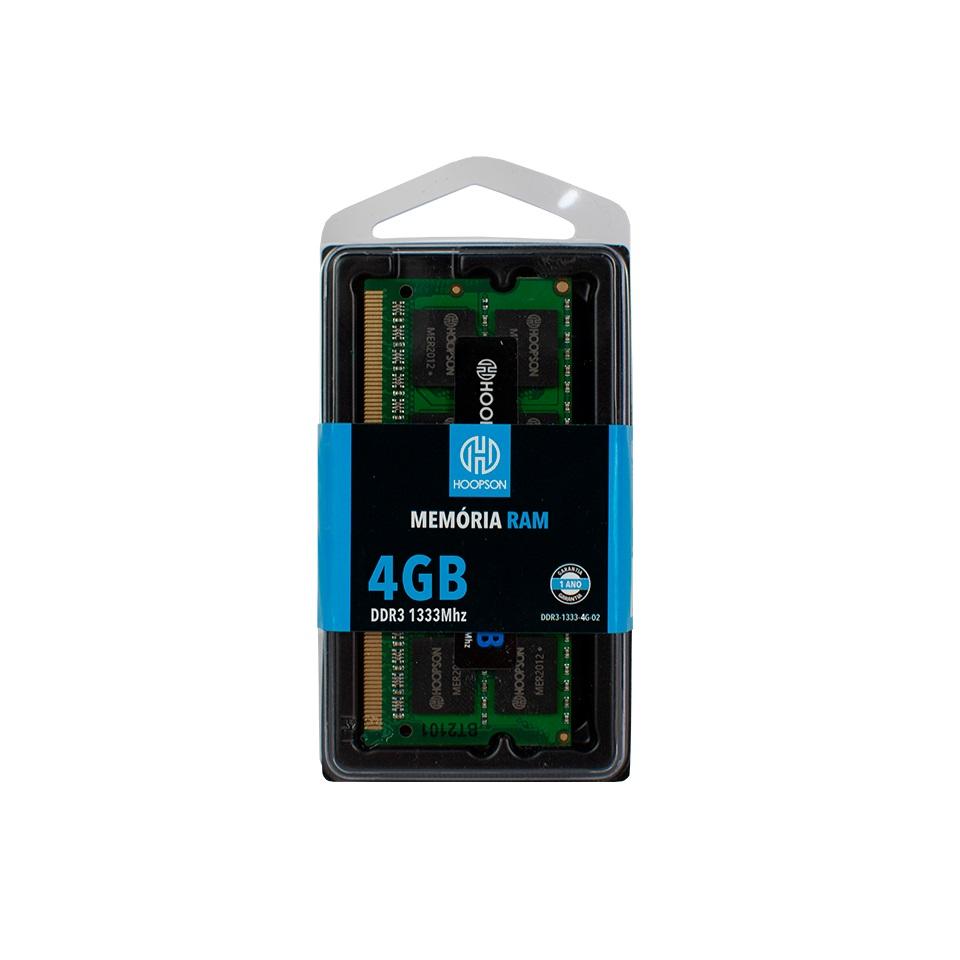 MEMORIA NOTEBOOK 4GB DDR3 1333MHZ HOOPSON  - TELLNET