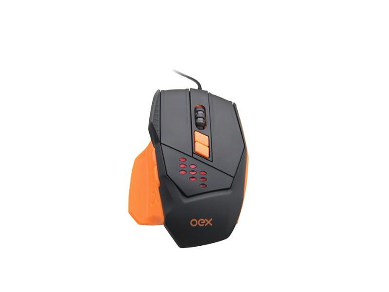 MOUSE GAMER STEEL OEX MS-305 4000DPI  - TELLNET