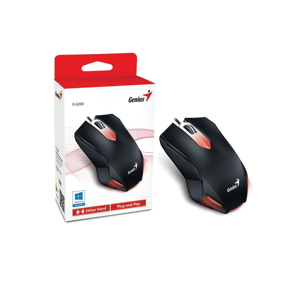 MOUSE USB GAMER GENIUS X-G200 PRETO  - TELLNET