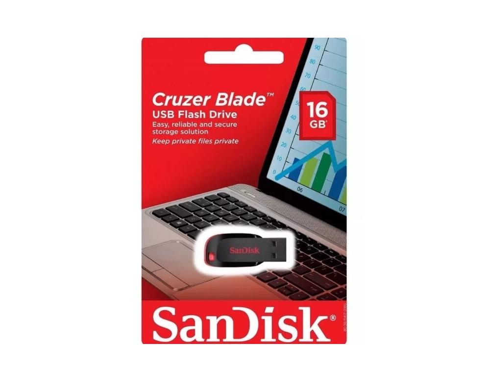 PEN DRIVE 16GB SANDISK CRUZER BLADE SDCZ50-016G-B35  - TELLNET