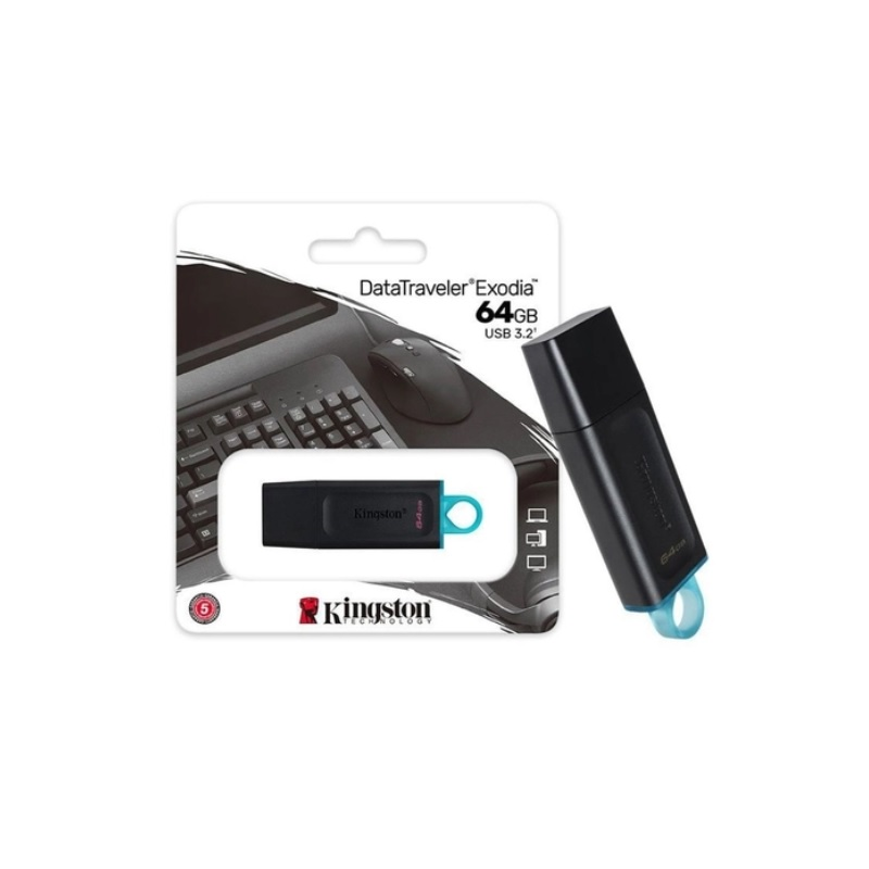 PEN DRIVE 64GB KINGSTON EXODIA USB 3.2 DTX/64GB  - TELLNET