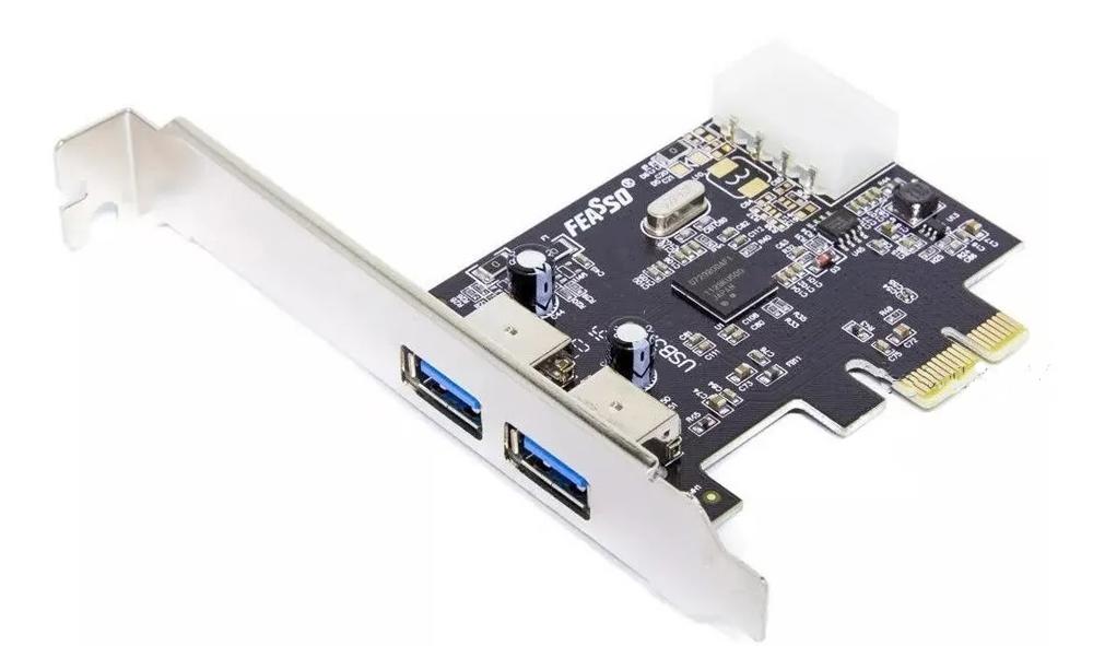 PLACA PCIe USB 3.0 2P FEASSO FPU-03  - TELLNET