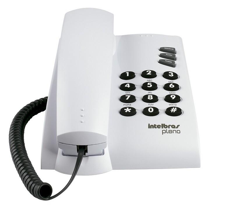 TELEFONE INTELBRAS PLENO CINZA ÁRTICO  - TELLNET