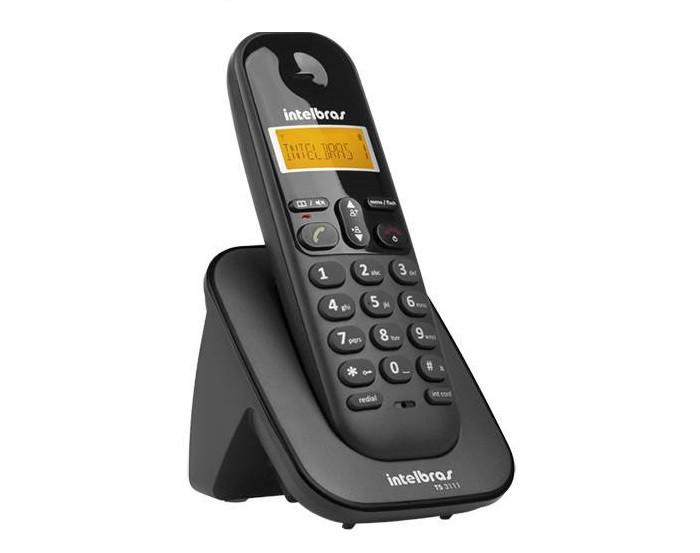 TELEFONE RAMAL S/FIO DIGITAL INTELBRAS TS3111 PRETO  - TELLNET