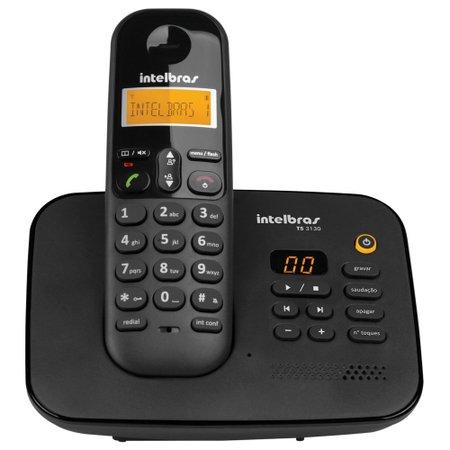 TELEFONE S/FIO DIGITAL C/ SECRETÁRIA ELETRÔNICA INTELBRAS TS3130  - TELLNET