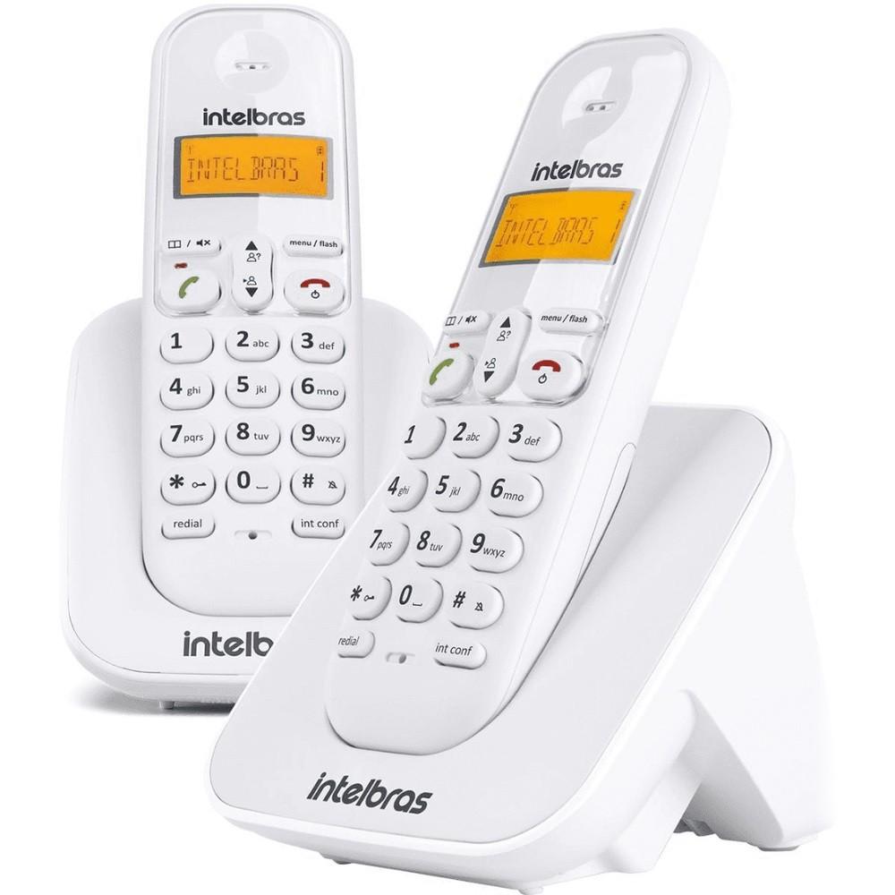 TELEFONE S/ FIO INTELBRAS + RAMAL TS3112 BRANCO  - TELLNET